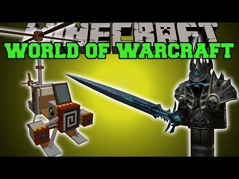 Minecraft: WORLD OF WARCRAFT MOD (LICH KING, FLYING MOUNT, & ICECROWN DIMENSION) Mod Showcase