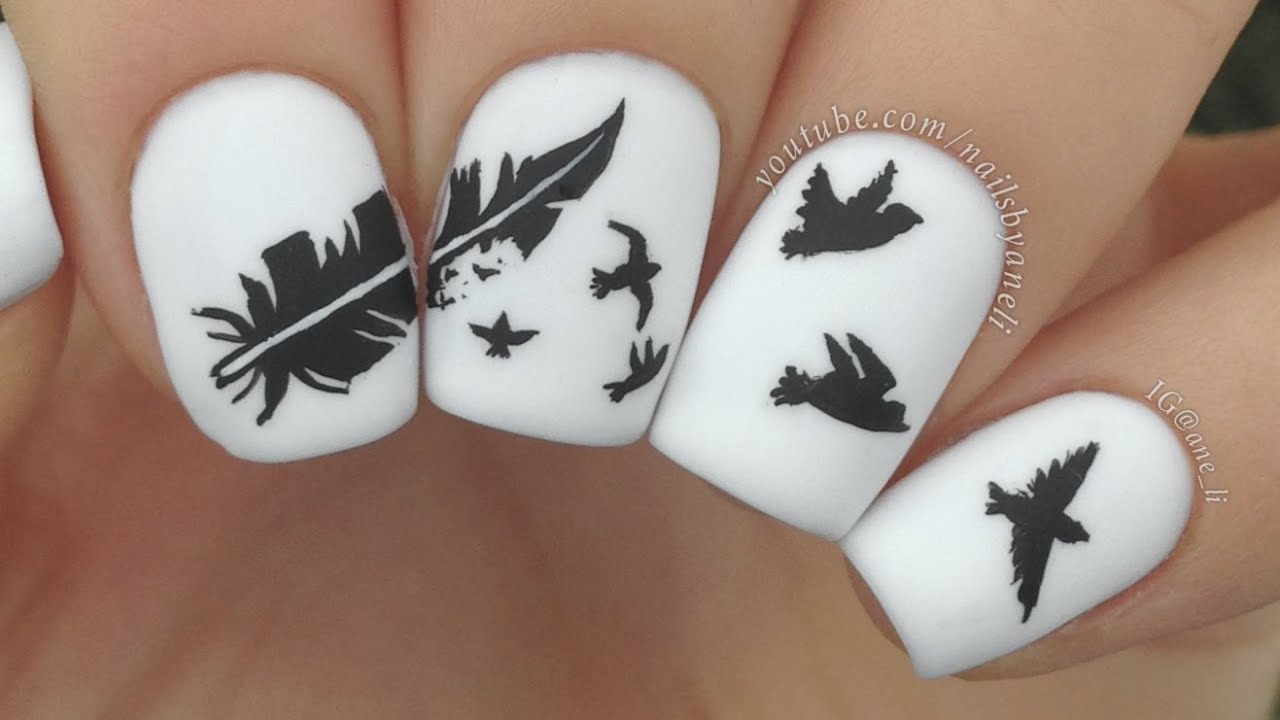 - Nail Art Tutorial: Feather To Birds - YouTube