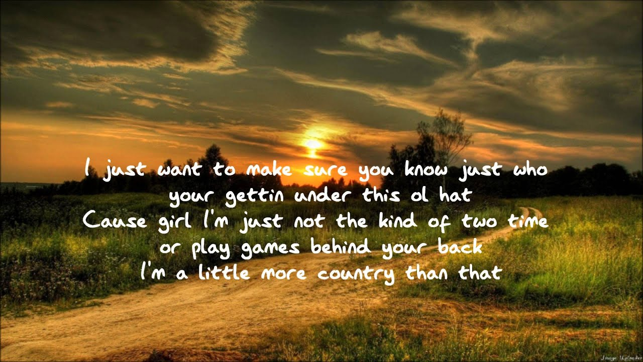 country Love Desktop Wallpaper : Easton corbin - A little more country than that *acoustic version* - YouTube