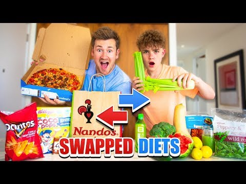 I Swapped DIETS With My 16 YEAR OLD BROTHER For 24 HOURS