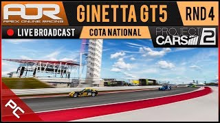 Project CARS 2 | AOR Ginetta GT5 League | PC Tier 1 | S1 | R4: COTA National