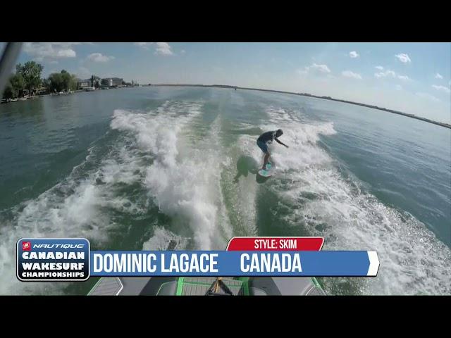 2017 Canadian Wakesurf Nationals Dom Lagace Skim Run