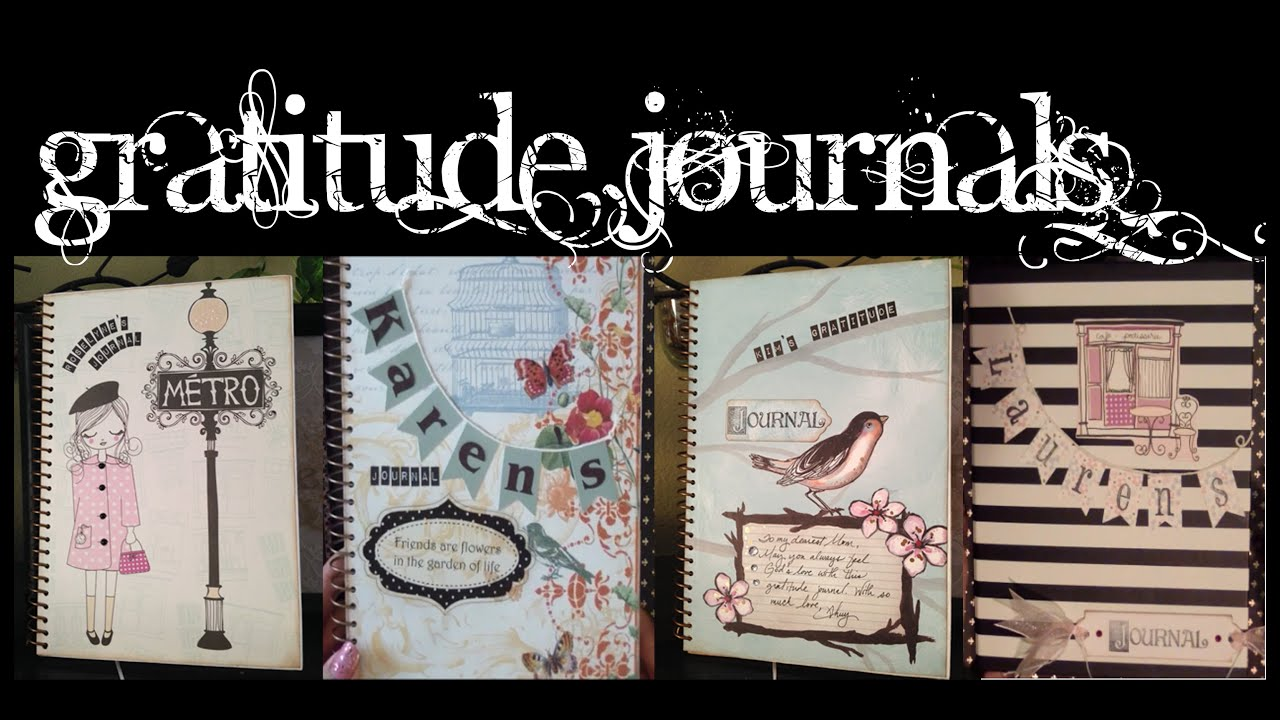 5 diy decorated gratitude journals personalized gift ideas youtube negle Choice Image