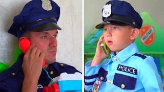 Senya يلعب مهنة ضابط الشرطة ويرفض سليبي الشرطي