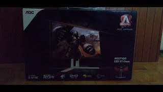 aOC Agon AG271QG unboxing and impressions after 1 year  1440p 165Hz G-SYNC monitor