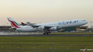 pope francis plane arrival in mnl january 15 2015 srilankan airlines 4111 a340 300 4r adf