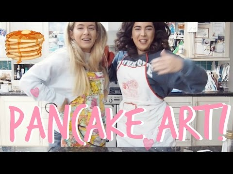 IN THE KITCHEN WITH US! | PANCAKE ART | Sophia and Cinzia