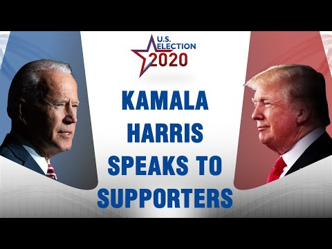 Kamala Harris greets supporters on polling day | US Presidential Election 2020
