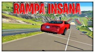MEGA RAMPA INSANA BEAMNG DRIVE!!!