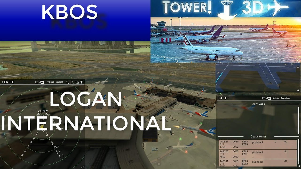 TOWER 3D PRO | KBOS | BOSTON LOGAN INTERNATIONAL | NEW DLC AVAILABLE!!