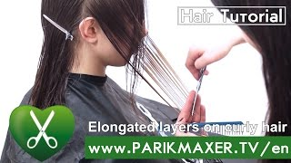 Long Layer Haircut on Curly Wavy Hair parikmaxer tv USA