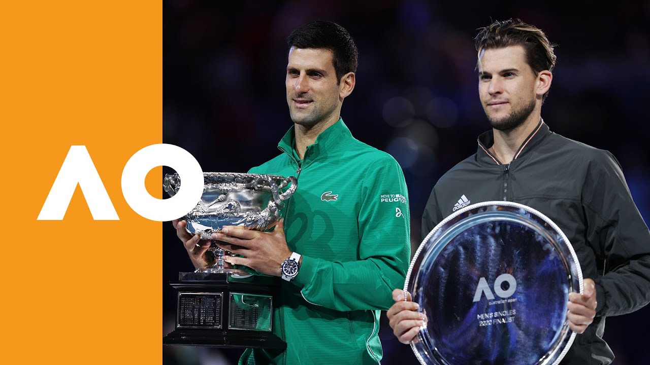 Novak Djokovic Vs Dominic Thiem Men S Final Trophy Ceremony Australian Open 2020 Youtube