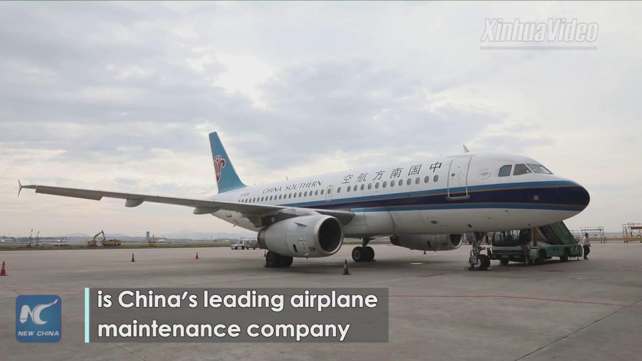 Download Visiting China's leading airplane maintenance base