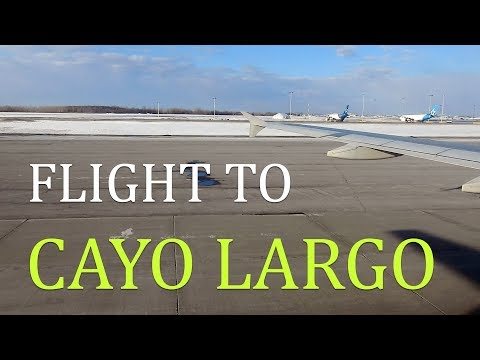 Onboard Air Cubana A320 Black livery Montreal to Cayo Largo Cuba Flight