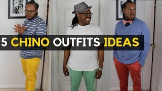 How to Style Mens Chinos | 5 Mens Chinos Outfits Ideas