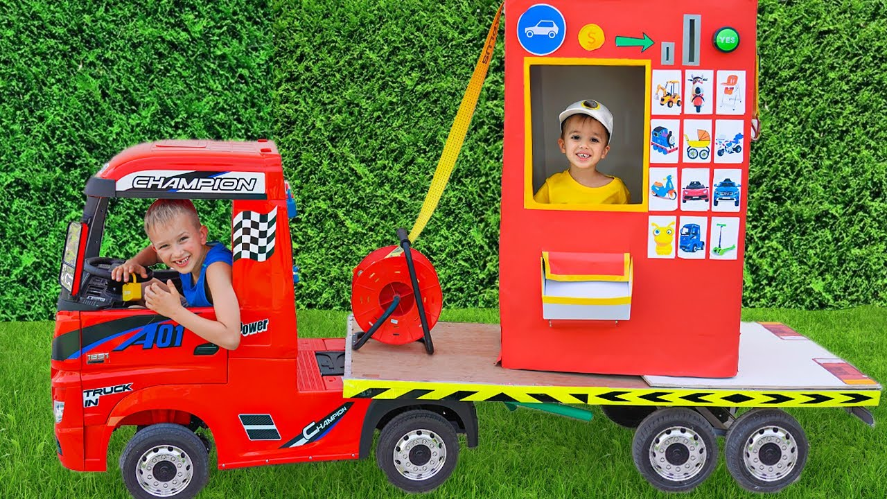 Download Vlad and Niki Pretend Play with Ride On Cars Toy