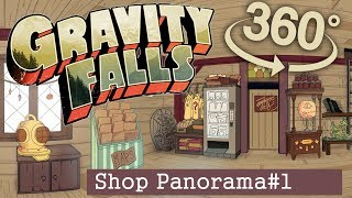 Gravity Falls 360 #1: Shop - Handpainted 360 Panorama + Stages
