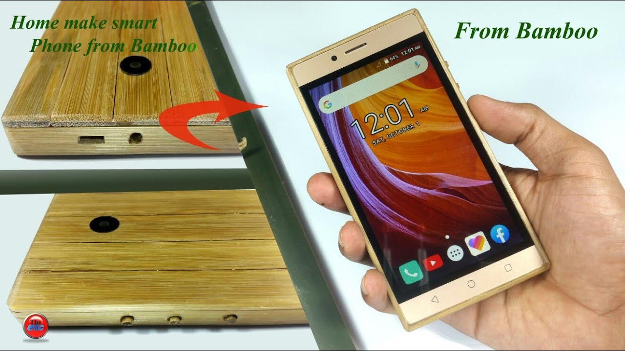 Home make smart phone from bamboo  || How to make smart phone using bamboo