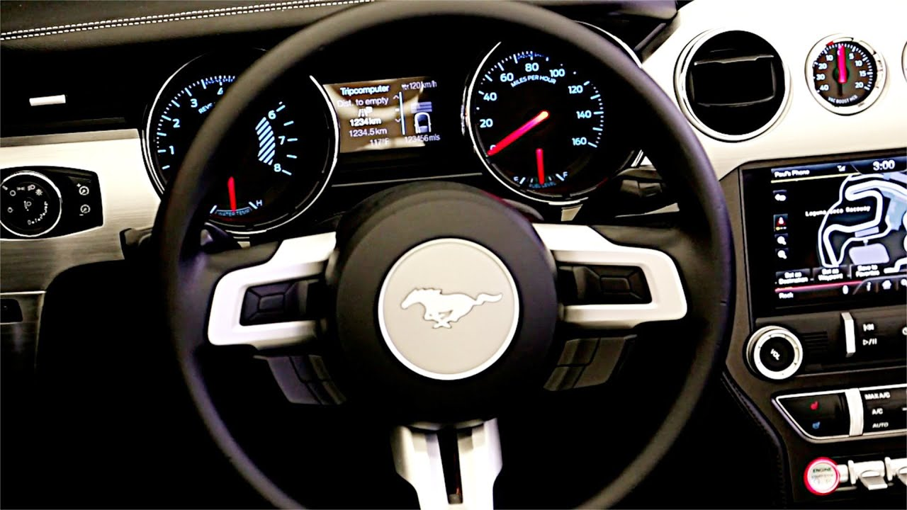 new 2015 ford mustang interior youtube. Black Bedroom Furniture Sets. Home Design Ideas