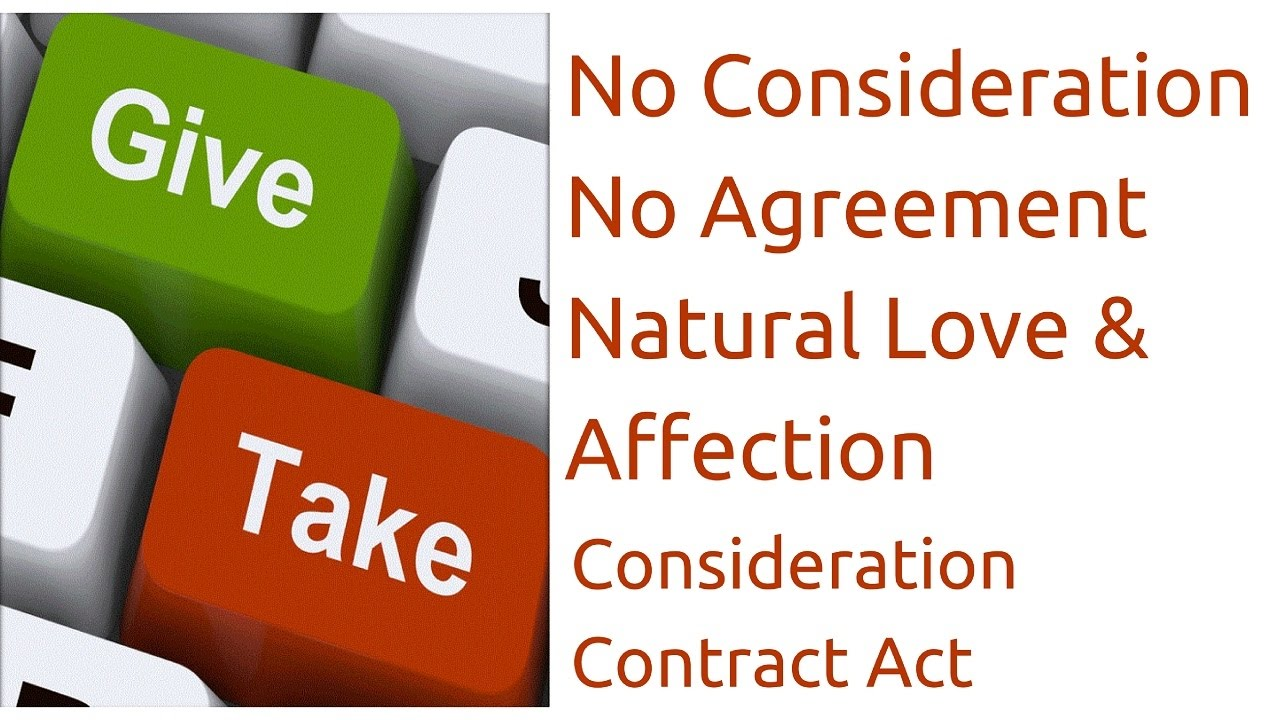 What Is Natural Love And Affection Consideration Indian Contract