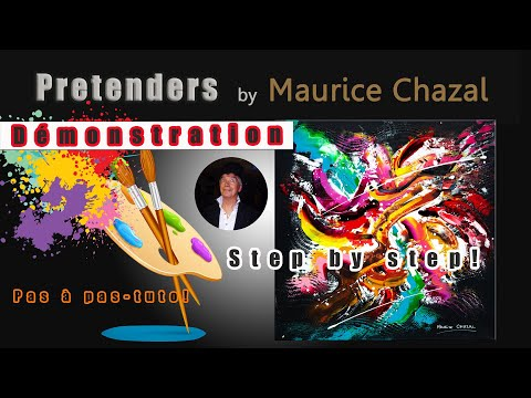 INTUITIVE ABSTRACT PAINTING | MAURICE CHAZAL | ACRYLICS | KNIFE AND BRUSHES | BLACK DOG from YouTube · Duration:  14 minutes 36 seconds