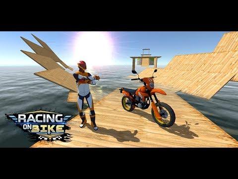 Racing on Bike Free 1