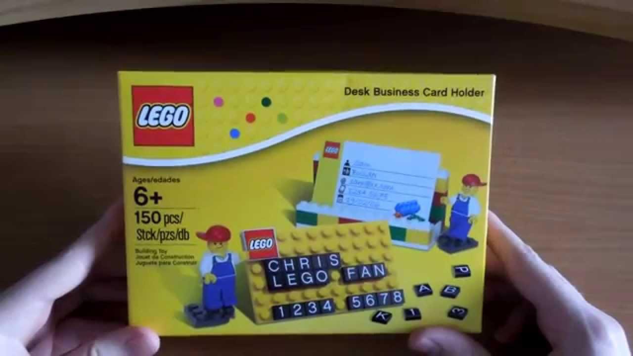 Lego 850425 Desk Business Card Holder Обзор - YouTube
