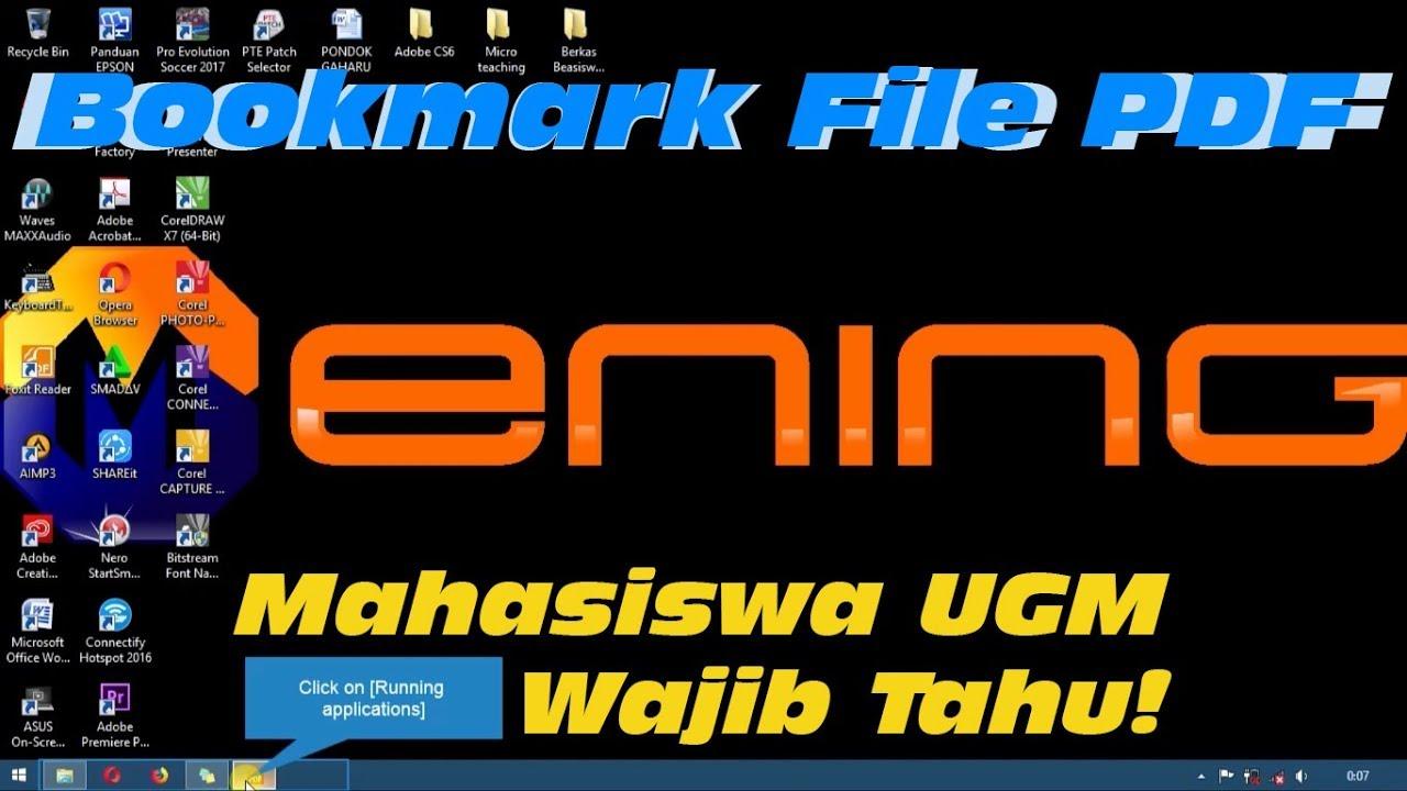 Tutorial Bookmark File Skripsi Tesis Disertasi Mahasiswa Ugm Wajib Tahu Youtube