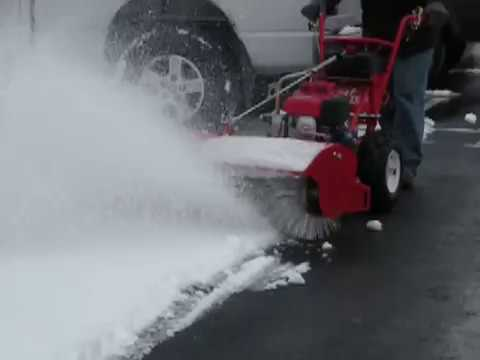 Turf Teq Power Broom Snow Removal 1 Youtube