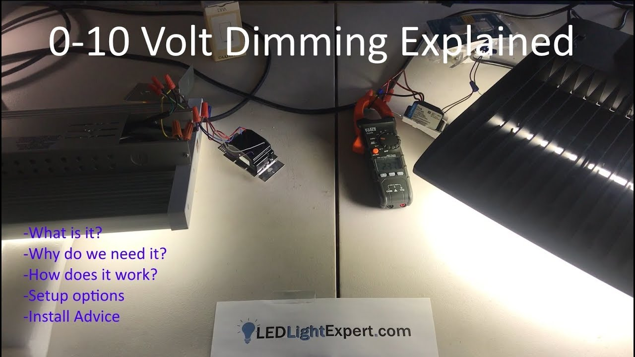how to setup dimmable led high bay or led parking lot lights with 0 10volt 0 10 volt dimming explained [ 1280 x 720 Pixel ]