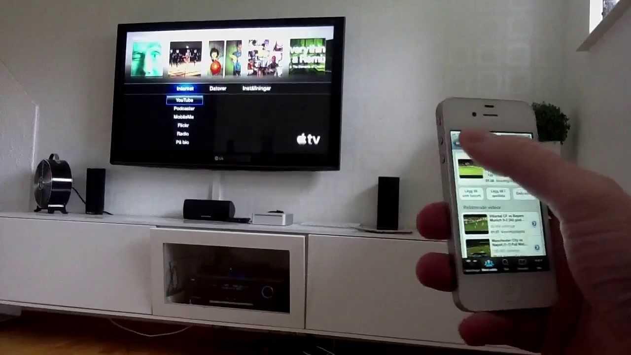 koppla in AirPlay IPAD