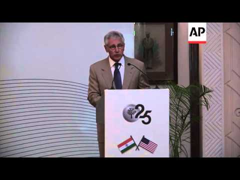US Defence Secretary Hagel says US and India must improve defence cooperation