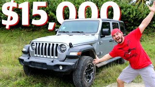 I bought the CHEAPEST Jeep Wrangler JL - **NOT CLICKBAIT** - Ep1