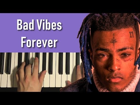 HOW TO PLAY – XXXtentacion, Robb Bank$ – Bad Vibes Forever (Piano Tutorial Lesson)