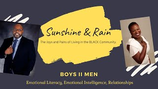 Developing Emotional Literacy & Emotional Intelligence in Black Men | Sunshine and Rain Ep. 1