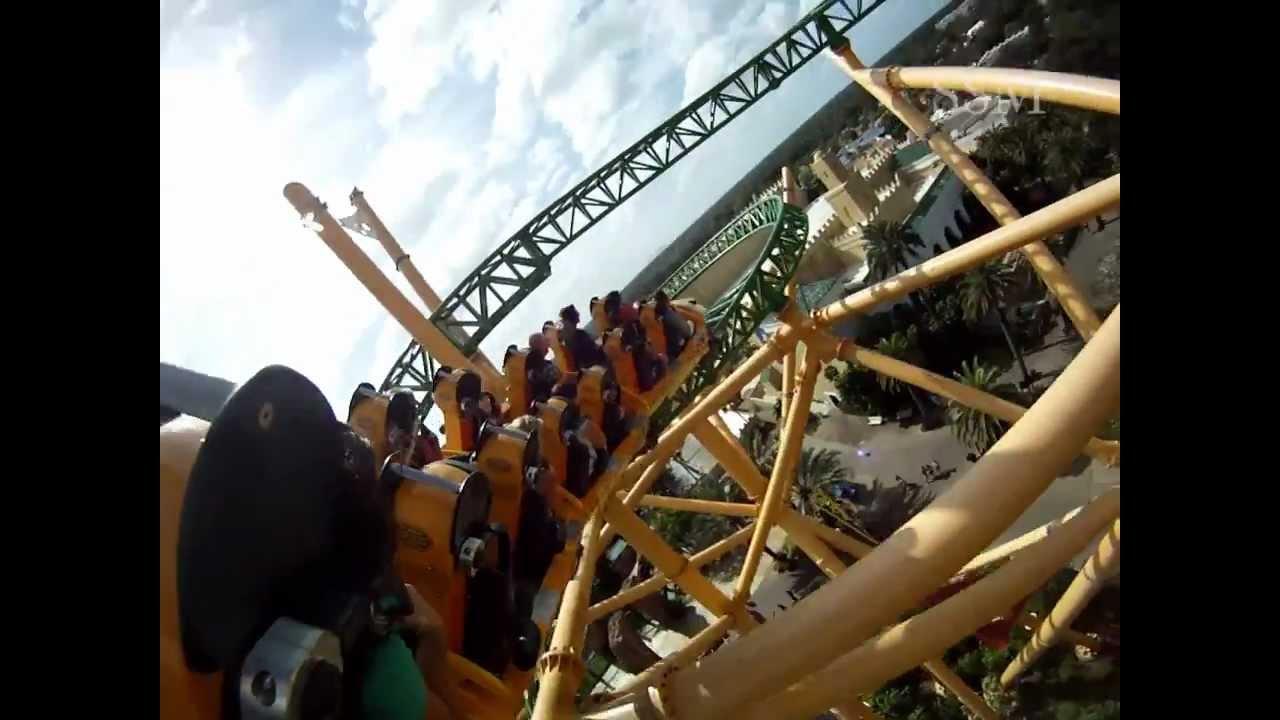 Cheetah Hunt Roller Coaster POV - Busch Gardens Tampa - YouTube