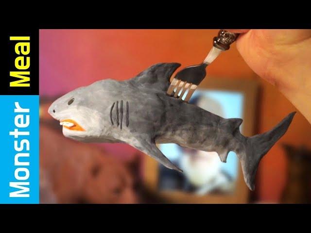 Incredible Shark Fishing!!   Monster Meal ASMR Eating Sounds   Kluna Tik Style Dinner No Talk