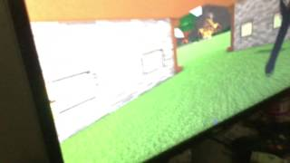 My brother playing roblox