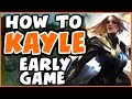 HOW TO PLAY KAYLE EARLY GAME | Challenger Kayle 9.20 - League of Legends