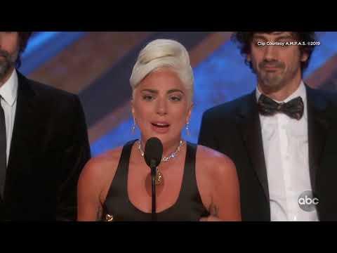 Lady Gaga's Acceptance Speech for Best Original Song   Oscars 2019