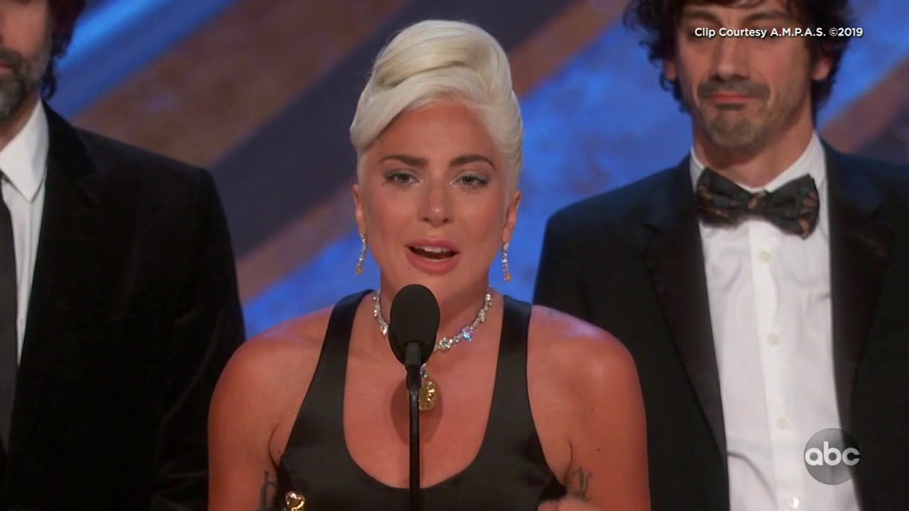 Lady Gaga's Acceptance Speech for Best Original Song | Oscars 2019