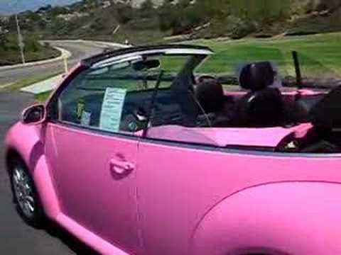 Vw Bug Convertible >> Pink Beetle Convertible @CapistranoVolkswagen in Los Angeles area - YouTube