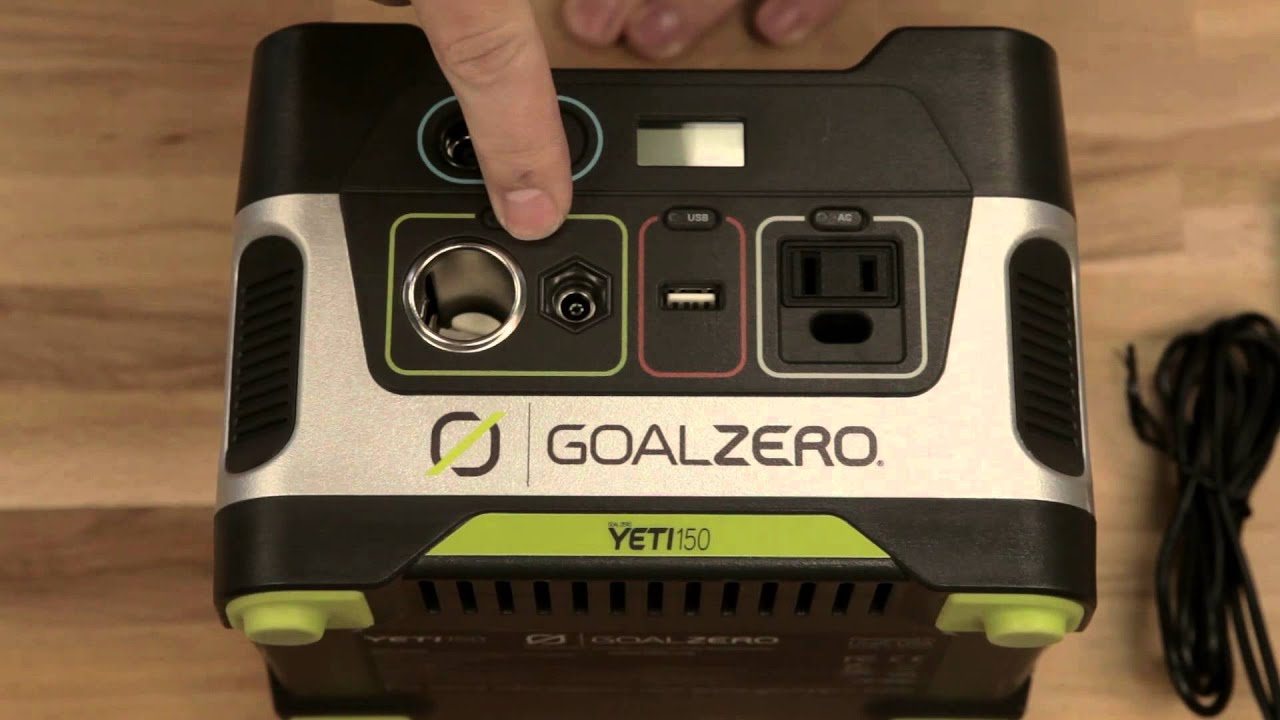 Unboxing The GoalZero Yeti 150 Solar Generator