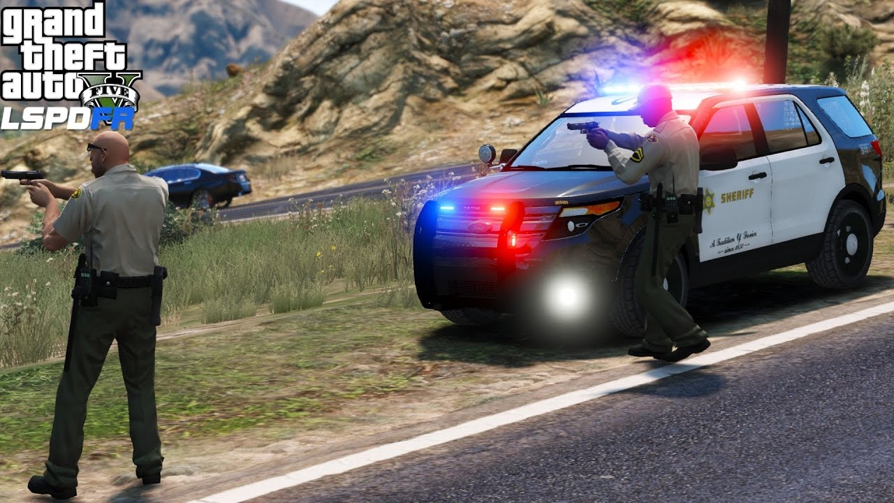 GTA 5 LSPDFR Police Mod 326 | Los Angeles County Sheriff Department Ford  Police Interceptor With ELS