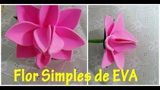 Flor Simples de EVA – passo a passo