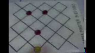Dama (Filipino Checkers) 3 Dama vs 1 Dama (3 Kings vs 1 King)