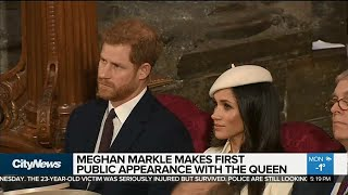 Meghan Markle carries out first royal engagement with Queen Elizabeth