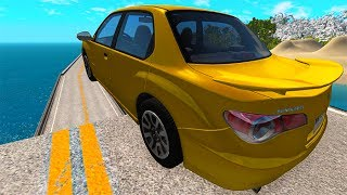 Open Bridge Jumping Car Crashes #7 BeamNG drive