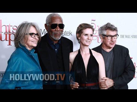 Morgan Freeman and Cynthia Nixon on the red carpet - Hollywood TV