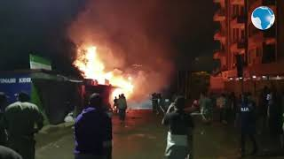 BREAKING NEWS:  Huge inferno at Pangani